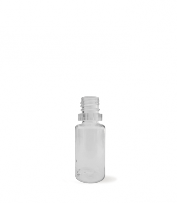 Botella 10 ml - plástico transparente